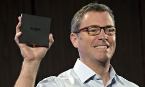 Amazon Kindle vice president Peter Larsen TV Fire box